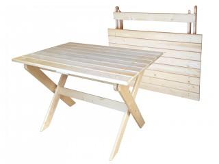 Стол складной из массива 1000