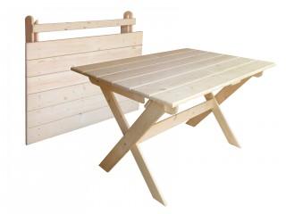 Стол складной из массива 1200