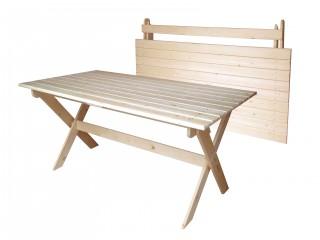 Стол складной из массива 1500