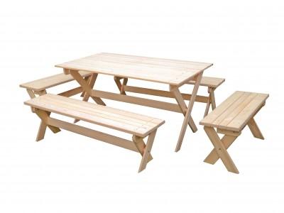 Комплект складной мебели с лавками на 10 чел