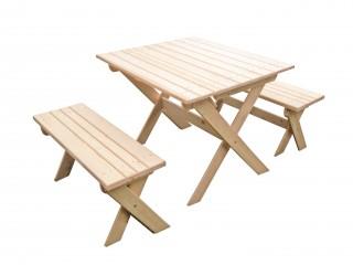 Комплект складной мебели с лавками на 4 чел