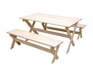 Комплект складной мебели с лавками на 6 чел