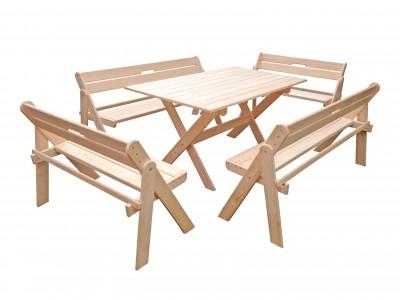 Комплект складной мебели со скамейками на 8 человек