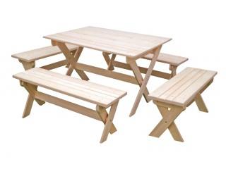 Комплект складной мебели с лавками на 8-10 чел