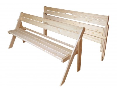 Скамейка складная из массива  1500