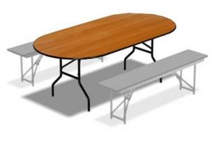 Овальный складной стол