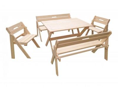 Комплект складной мебели со скамейками на 6-8 человек