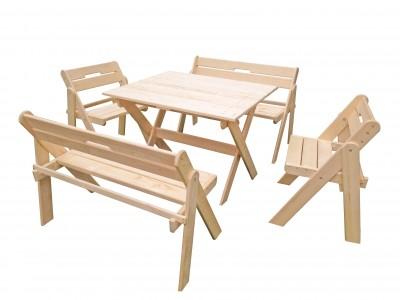 Комплект складной мебели со скамейками на 6 человек