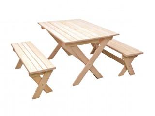 Комплект складной мебели с лавками на 4-6 чел