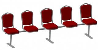 Секция банкетных стулья на единой базе