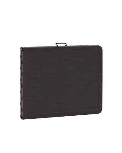 Стол складной 182 банкетный чемодан коричневый