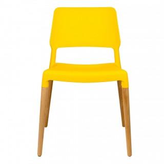 Стул BISTRO, желтый с деревян. Ножками