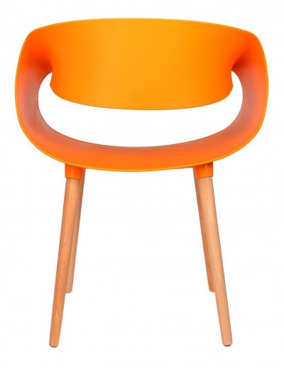 Стул TAPE, оранжевый, дер. Ножки