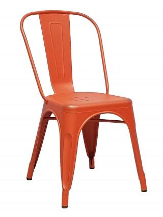 Стул TOLIX оранжевый/патина серая